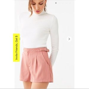 NEW! FOREVER 21 Mauve Pinstriped Adjustable Shorts
